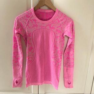 Lululemon pink camo swiftly long sleeve